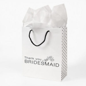 12 x Bridesmaids Gift Bags - White And Black12 x Bridesmaids Gift Bags