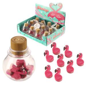 Fun Tropical Flamingo Eraser Set