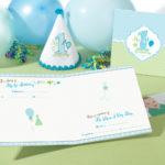 1st Birthday Memory Book Blue - Boy1st Birthday Memory Book Blue