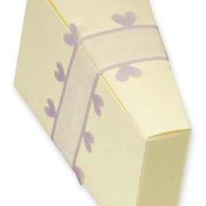 Ivory Silk Cake Box (80x35x50mm)Ivory Silk Cake Box