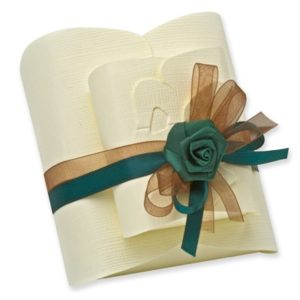 Ivory Silk Bow Box (105x95x40mm)Ivory Silk Bow Box