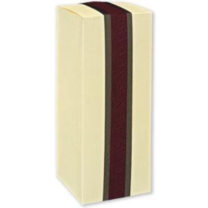 Ivory Silk Square Box (100x100x250mm)Ivory Silk Square Box