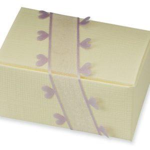 Ivory Silk Rectangle Box (70x45x35mm)Ivory Silk Rectangle Box