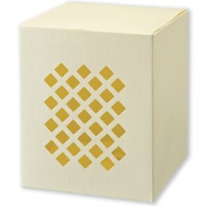 Ivory Silk Perforated Square Box (100x100x110mm)Ivory Silk Perforated Square Box