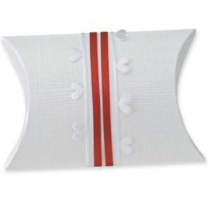 White Silk Pillow Box 70x70x25mmWhite Silk Pillow Box