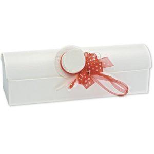 White Silk Chest Box 330x100x100mmWhite Silk Chest Box