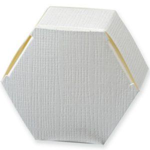 White Silk Hexagonal Box 60x30mmWhite Silk Hexagonal Box