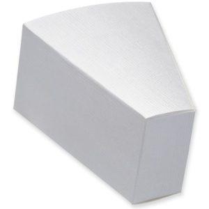 White Silk Cake Slice Box 90x73x50mmWhite Silk Cake Slice Box