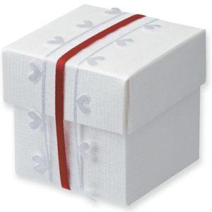 White Silk Square Box With Lid 50x50x50mmWhite Silk Square Box With Lid