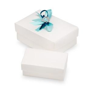 White Silk Rectangle Box With Lid 70x40x30mmWhite Silk Rectangle Box With Lid