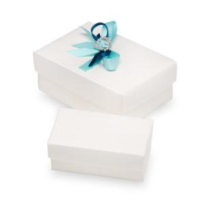 White Silk Rectangle Box With Lid 96x65x40mmWhite Silk Rectangle Box With Lid