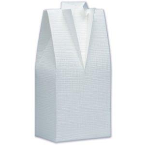 White Silk Tuxedo Box 50x30x100mmWhite Silk Tuxedo Box