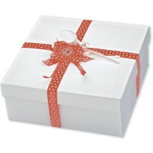 White Silk Square Box With Lid 300x300x120mmWhite Silk Square Box With Lid