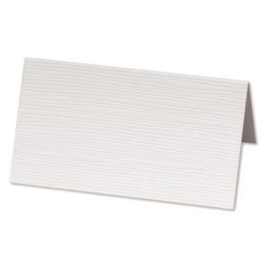 White Silk Place Card 5x9cmWhite Silk Place Card