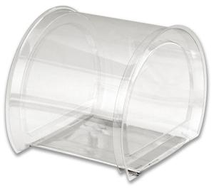 Oval PVC Display Clear Box 17x12x11Oval PVC Display Box 17x12x11