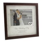 Juliana Photo Frame with Mount and Icon 7x5 'Wedding Day'Juliana MDF Frame With Mount And Icon 7x5 Wedding Day