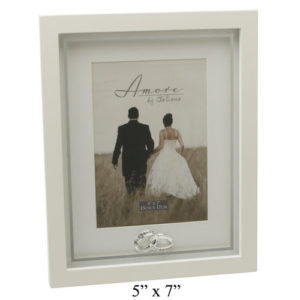 Amore Wedding Photo Frame With Crystal Rings Plain 5x7Amore MDF Frame With Crystal Rings Plain 5x7