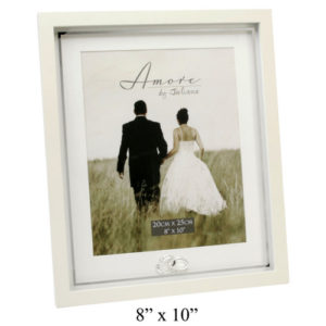Amore Wedding Photo Frame With Crystal Rings Plain 8x10Amore MDF Frame With Crystal Rings Plain 8x10