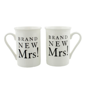Amore Gift Set Brand New Mrs. Mrs. Wedding MugsAmore Gift Set Brand New Mrs. Mrs.
