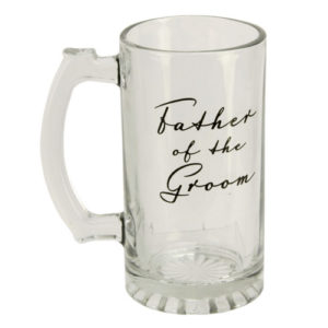 Amore Wedding Glass Tankard Father of The GroomAmore Glass Tankard Father of The Groom