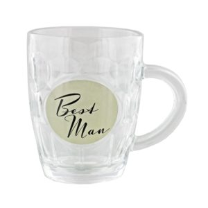 Amore Wedding Pint Glass Tankard Best ManAmore By Juliana Glass Pint Tankard Best Man