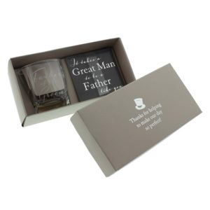 Amore Wedding Whisky Glass and Coaster set Father of The GroomAmore By Juliana Whisky Glass And Coaster Father of The Groom