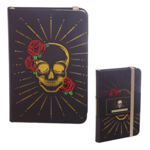 Collectable Hardback Notebook - Black and Gold Skull