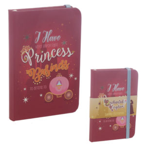 Collectable Hardback Notebook - Princess Slogan