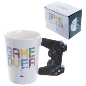 Fun Game Controller Shaped Handle Ceramic Mug