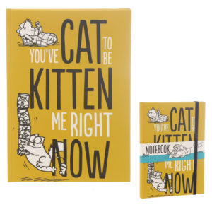 Kitten Slogan Simon's Cat A5 Hardback Notebook
