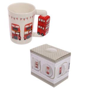 Novelty Ceramic Mug with London Bus Handle