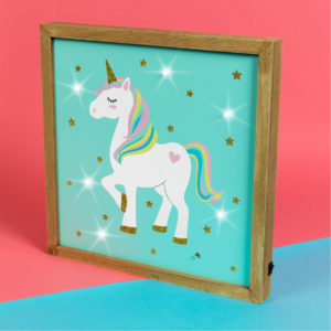 Unicorn Magic MDF Light Up PlaqueUnicorn Magic MDF Light Up Plaque