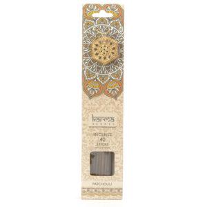 Patchouli Karma Incence Sticks and Holder Pack of 40Patchouli Karma Incence Sticks and Holder Pack of 40