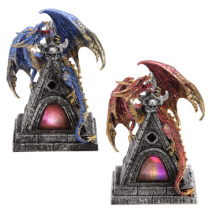 LED Mystical Protector Dark Legends Dragon Figurine
