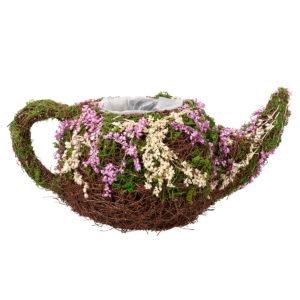 Rattan & Moss Teapot BasketRattan & Moss Teapot Basket