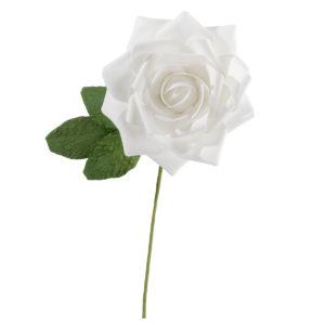 White Stemmed Rose DecorationWhite Stemmed Rose Decoration