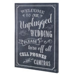 Lillian Rose Black & White Unplugged Wedding Sign