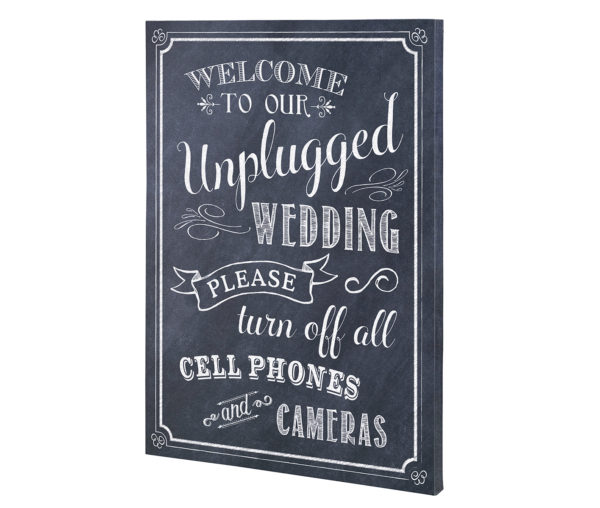 Lillian Rose Black & White Unplugged Wedding Sign