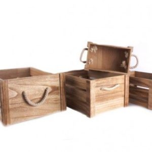 Set of 4 Wooden CratesSet of 4 Wooden Crates