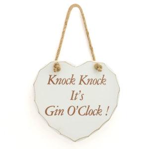 It's Gin 'O' Clock PlaqueIt's Gin 'O' Clock Plaque