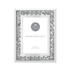 """Mirror and Crystal Frame 5 X 7 """"Mirror and Crystal Frame 5 X 7 """""""