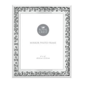 """Mirror and Crystal Frame 8 X 10""""Mirror and Crystal Frame 8 X 10"""""""