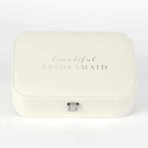 """Amore PU Jewellery Box """"Beautiful Bridesmaid""""Amore PU Jewellery Box """"Beautiful Bridesmaid"""""""