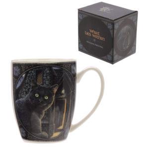 What Lies Within Cat Design Lisa Parker New Bone China Mug