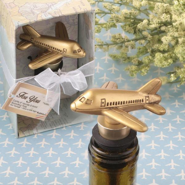 Airplane design bottle stopper