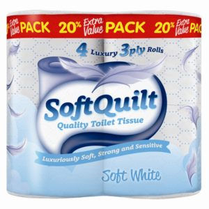 Toilet Rolls 3 Ply - White - 4 RollsToilet Rolls 3 Ply - White - 4 Rolls