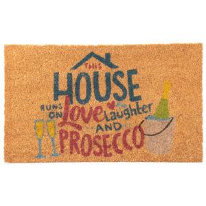 Coir Door Mat - Prosecco Slogan