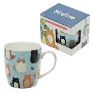 Collectable New Bone China - Feline Fine Cat Design