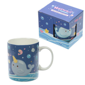 Collectable New Bone China - Narwaii  and  Friends Narwhal Design