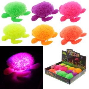 Fun Kids Light Up Squidgy Turtle Puff Pet